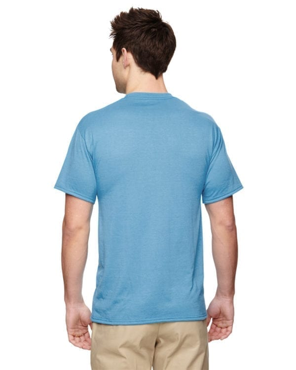 Jerzees 21M Athletic Dry-fit Shirt Light Blue back