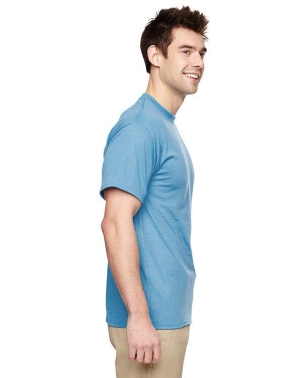 Jerzees 21M Athletic Dry-fit Shirt Light Blue side