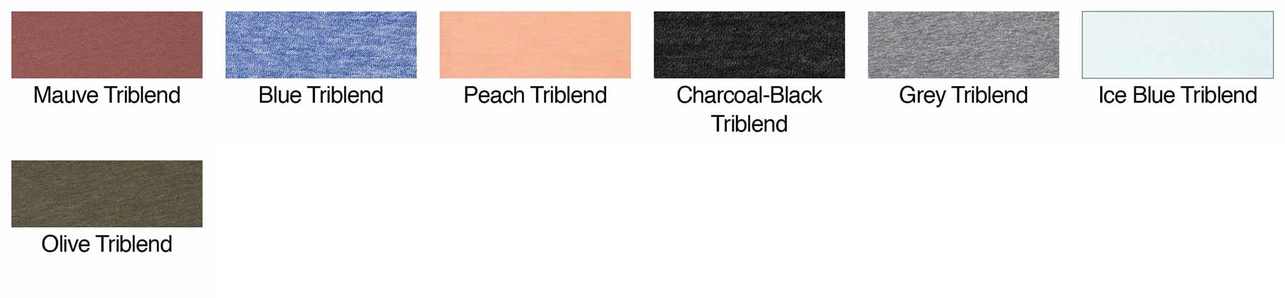 cd6f4768 bella canvas 3413t custom toddler triblend shirt bulk custom shirts color  swatch