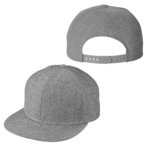 BX516 heather grey custom hats bulk custom shirts