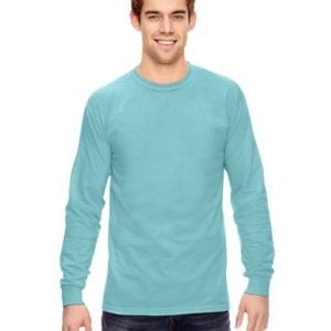 Comfort Colors C6014 heavyweight custom long sleeve shirt bulk custom shirts chalky mint