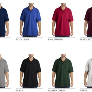Dickies KS5552 Performance Custom Polo - Bulk Custom Shirts colors