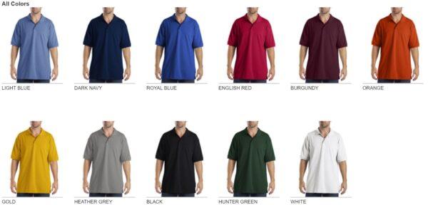Dickies KS5552 Performance Custom Polo - Bulk Custom Shirts colors