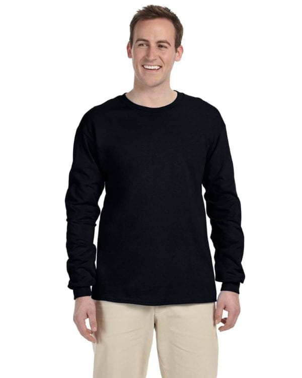 Gildan G240 Ultra Cotton Custom Long Sleeve Shirt Bulk Custom Shirts black
