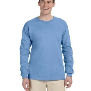 Gildan G240 Ultra Cotton Custom Long Sleeve Shirt Bulk Custom Shirts carolina blue