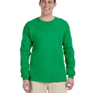 Gildan G240 Ultra Cotton Wholesale Custom Long Sleeve Shirt Bulk Custom Shirts irish green