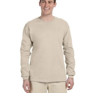 Gildan G240 Ultra Cotton Wholesale Custom Long Sleeve Shirt Bulk Custom Shirts sand