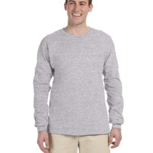 Gildan G240 Ultra Cotton Wholesale Custom Long Sleeve Shirt Bulk Custom Shirts sport grey