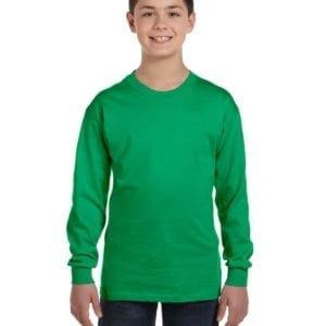 Gildan G540B Youth Cotton Custom Long Sleeve Shirt at bulk custom shirts irish green