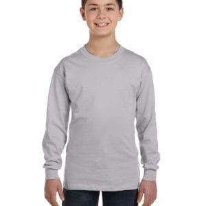 Gildan G540B Youth Cotton Custom Long Sleeve Shirt at bulk custom shirts sport grey