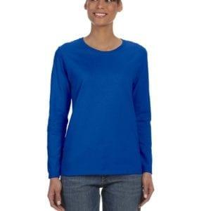 Gildan G540L Ladies' Cotton Custom Long Sleeve Shirt at bulk custom shirts royal