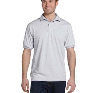 Hanes 054 50-50 poly-cotton budget custom polo bulk custom shirts ash