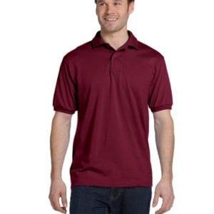 Hanes 054 50-50 poly-cotton budget custom polo bulk custom shirts cardinal