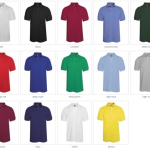 Hanes 054 50-50 poly-cotton budget custom polo bulk custom shirts colors
