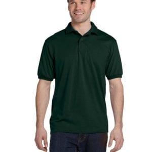 Hanes 054 50-50 poly-cotton budget custom polo bulk custom shirts deep forest
