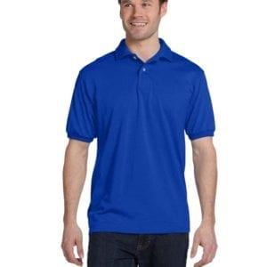 Hanes 054 50-50 poly-cotton budget custom polo bulk custom shirts deep royal