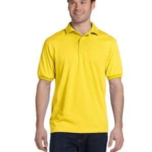 Hanes 054 50-50 poly-cotton budget custom polo bulk custom shirts yellow