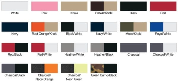Yupoong 6606 color swatches