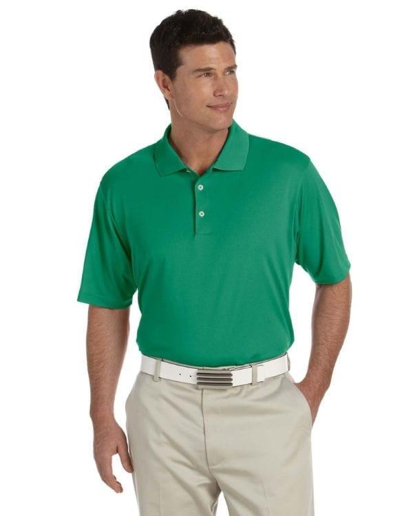 adidas a121 custom golf climalite pique custom polo amazon-white