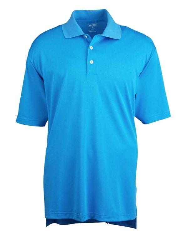 adidas a121 custom golf shirt climalite pique custom polo coast-white