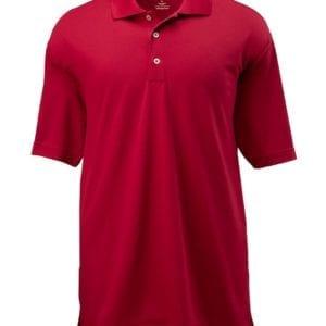 adidas a121 custom golf climalite pique custom polo power red-white