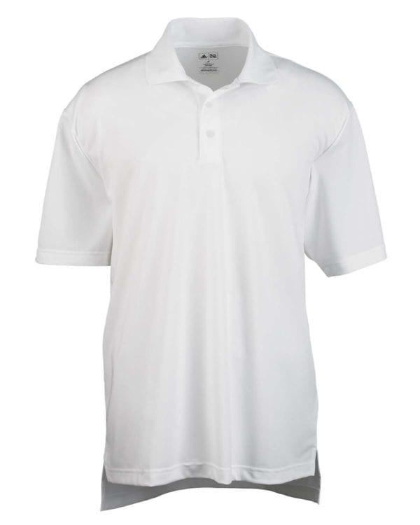 adidas a121 custom golf climalite pique custom polo white-black