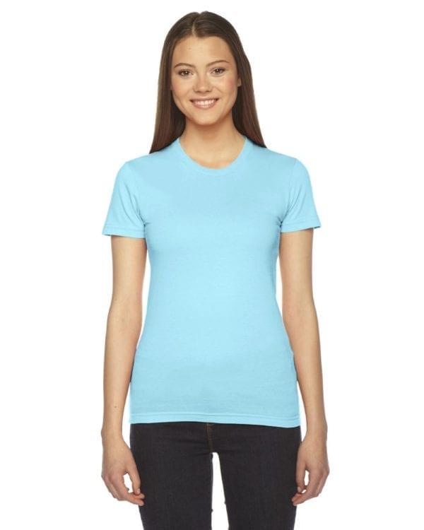 american apparel 2102w custom ladies shirt bulk custom shirts aqua