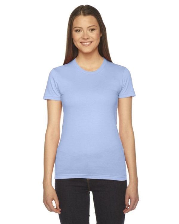 american apparel 2102w custom ladies shirt bulk custom shirts baby blue