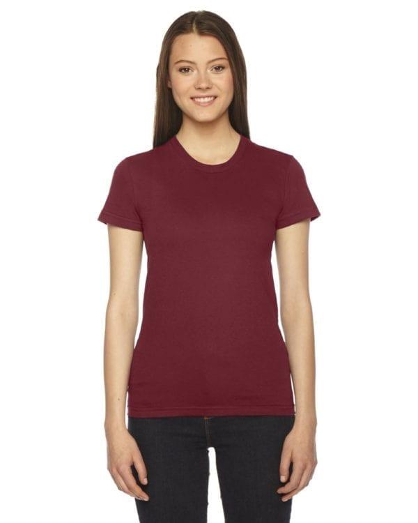 qamerican apparel 2102w custom ladies shirt bulk custom shirts cranberry