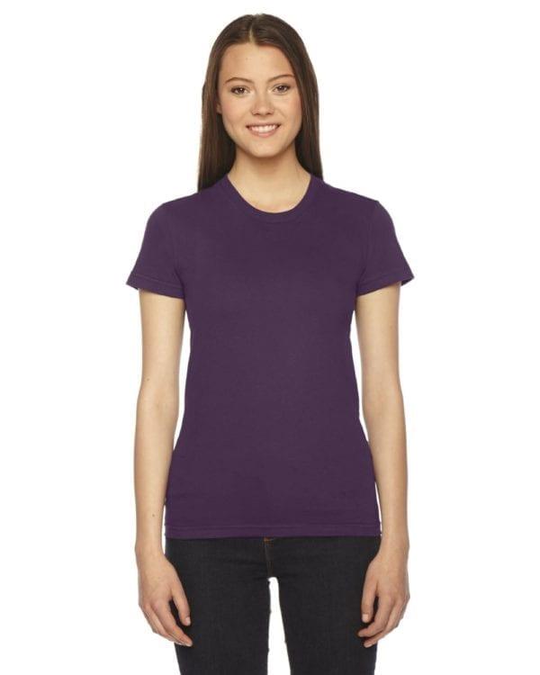 american apparel 2102w custom ladies shirt bulk custom shirts eggplant