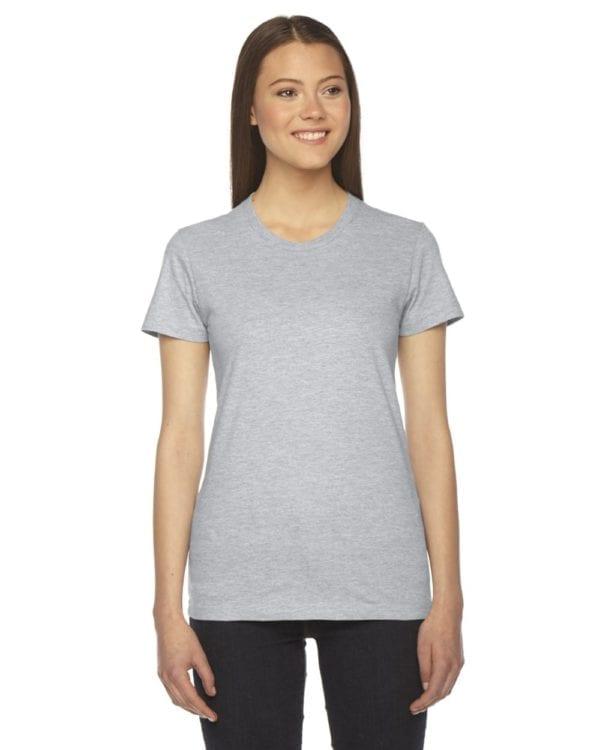 american apparel 2102w custom ladies shirt bulk custom shirts heather grey