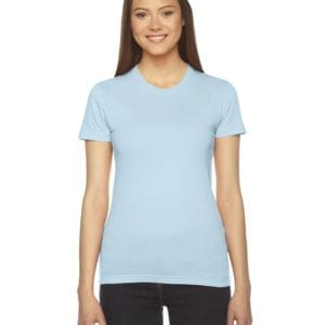 bulk custom shirts - american apparel 2102w ladies shirt light blue