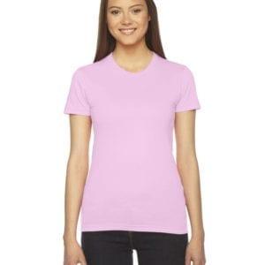 bulk custom shirts - american apparel 2102w custom ladies shirt light pink