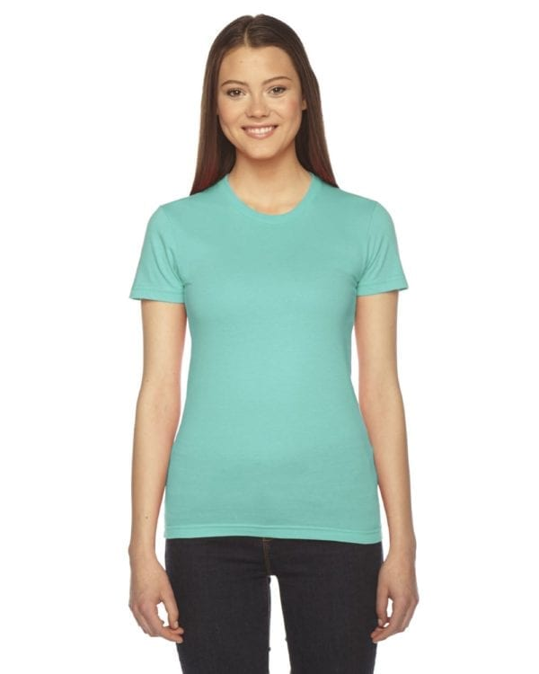bulk custom shirts - american apparel 2102w custom ladies shirt mint