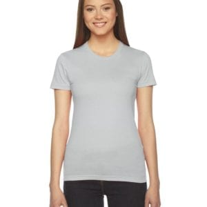 bulk custom shirts - american apparel 2102w custom ladies shirt new silver