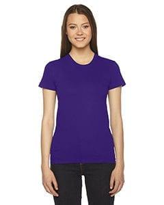 bulk custom shirts - american apparel 2102w custom ladies shirt purple