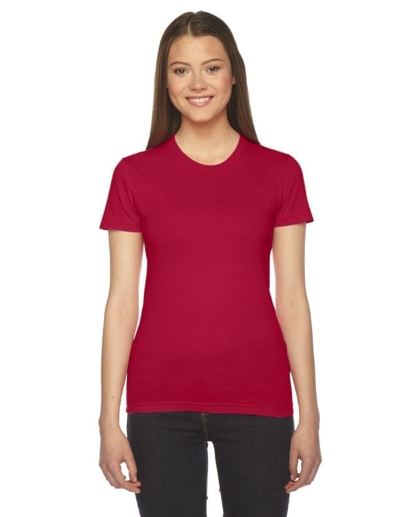 bulk custom shirts - american apparel 2102w custom ladies shirt red