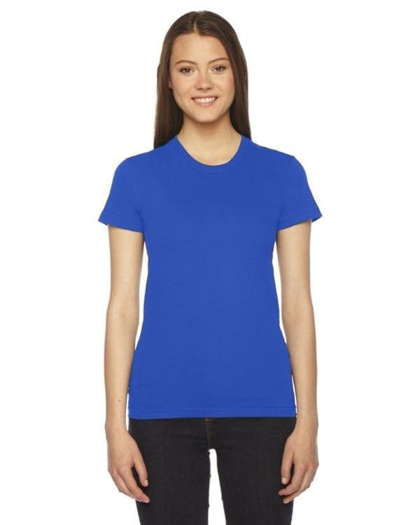 bulk custom shirts - american apparel 2102w custom ladies shirt royal blue