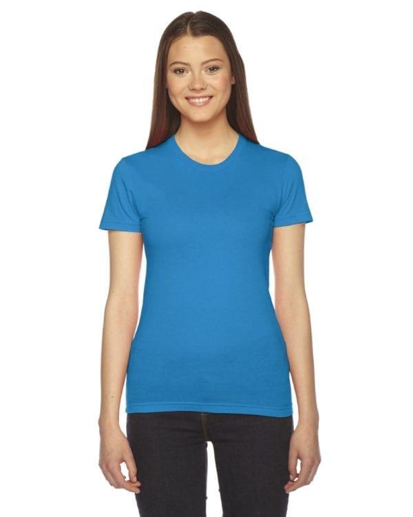 bulk custom shirts - american apparel 2102w custom ladies shirt teal
