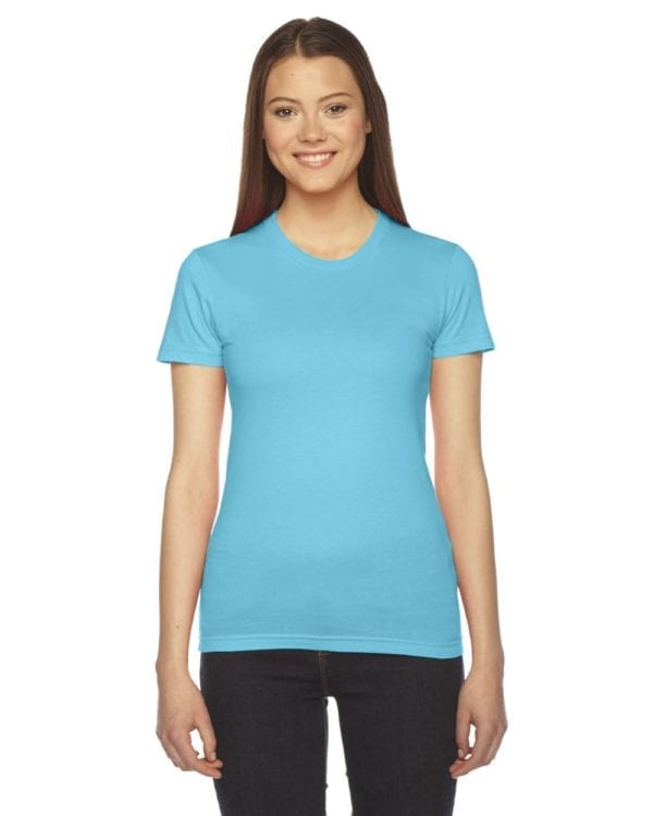 bulk custom shirts - american apparel 2102w custom ladies shirt turquoise