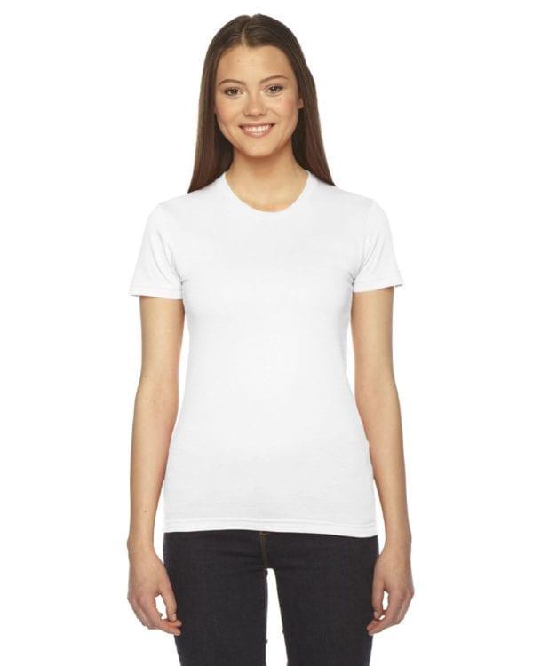 bulk custom shirts - american apparel 2102w custom ladies shirt white