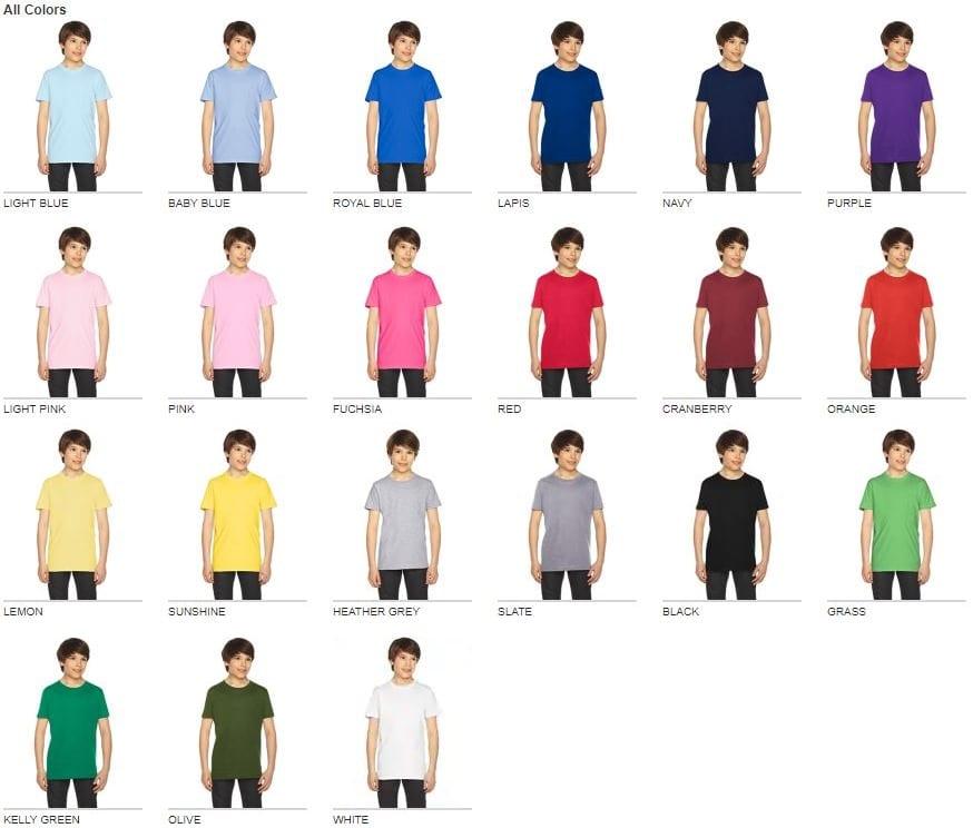 a043f7d39 American Apparel 2201W Youth Custom T-Shirt | Bulk Custom Shirts