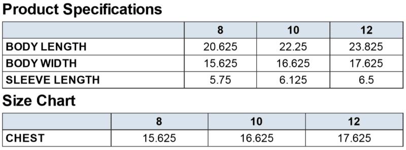 AA 2201w size chart