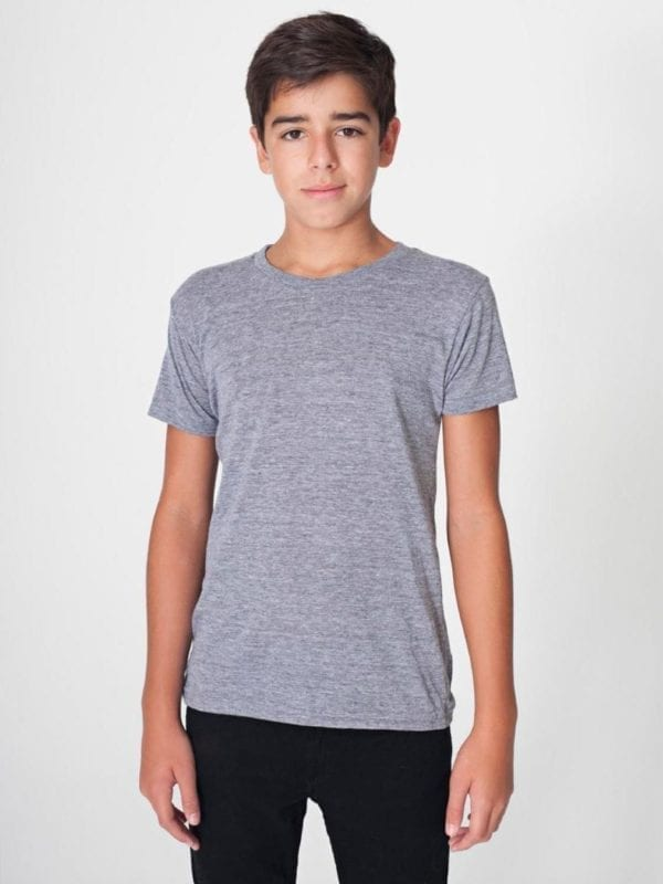 american apparel tr201w custom youth triblend shirt bulk custom shirts athletic grey