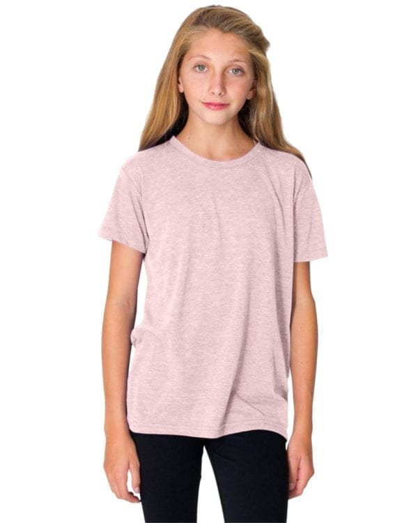 american apparel tr201w custom youth triblend shirt bulk custom shirts creole pink