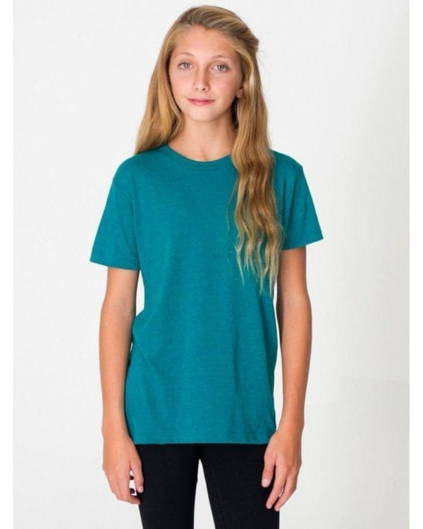 american apparel tr201w custom youth triblend shirt bulk custom shirts tri evergreen