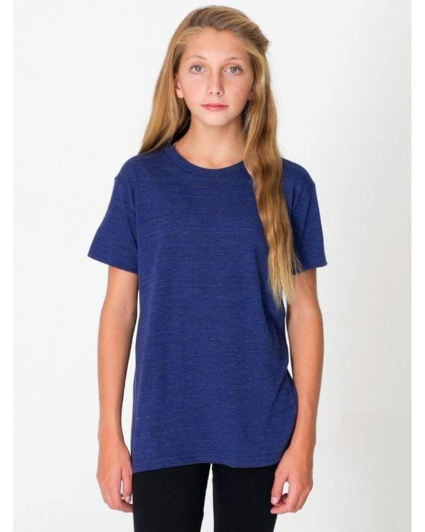 american apparel tr201w custom youth triblend shirt bulk custom shirts tri indigo