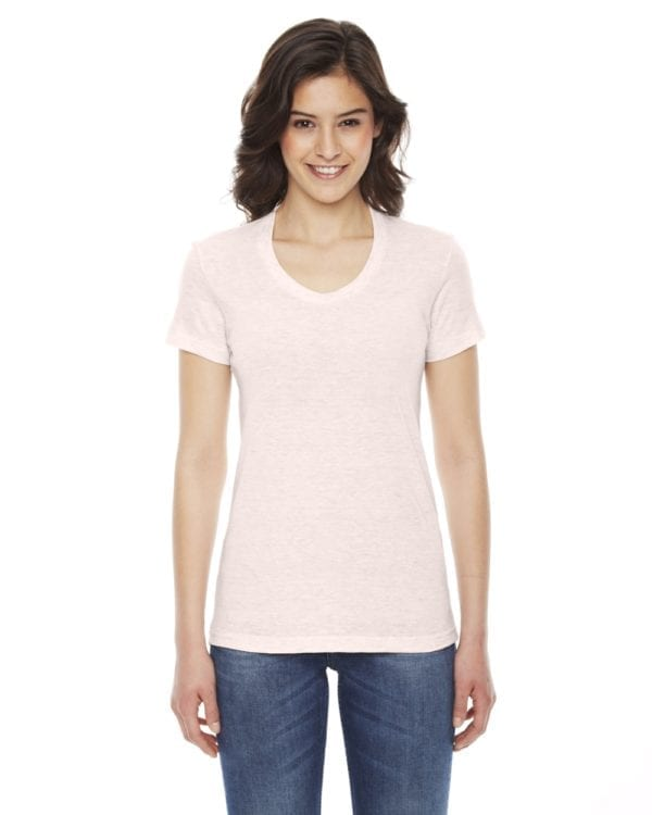 american apparel tr301w custom ladies triblend track tshirt bulk custom shirts creole pink