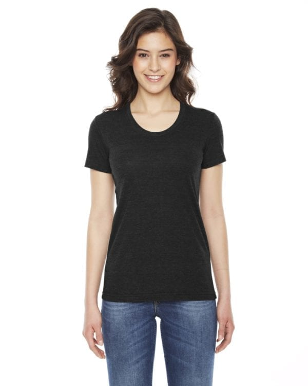 american apparel tr301w custom ladies triblend track tshirt bulk custom shirts tri black