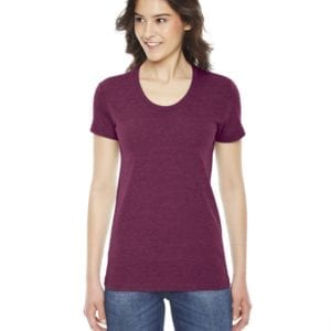 american apparel tr301w custom ladies triblend track tshirt bulk custom shirts tri cranberry